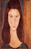 Portrait of Jeanne Hebuterne Prints by Amedeo Modigliani