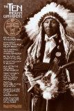 Die zehn Gebote der Indianer Poster