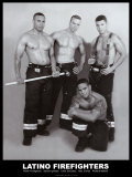 Latino Firefighters Poster