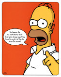 The Simpsons - Homer Plakater