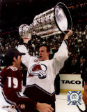 Rob Blake - with Stanley Cup 6/9/01 Photo