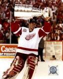 Dominik Hasek with the 2002 Stanley Cup 11 Photo