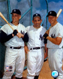 Roger Maris, Yogi Berra, and Mickey Mantle Photo