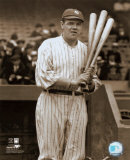 Babe Ruth - with 3 bats Photo