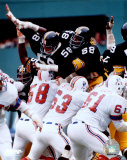 Steel Curtain - Holmes, Lambert, Greenwood - blocking field goal Photo