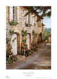Village Near Avignon Petite Art by Roger Duvall