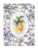 Lemon Toile Art by Sarah Elizabeth Chilton