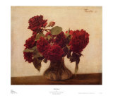 Red Roses Posters by Henri Fantin-Latour