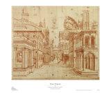 Roman Perspective Posters by Baldassare Peruzzi