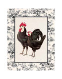 Farmyard Toile II Prints by Sarah Elizabeth Chilton