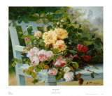 Romantic Roses Prints by Eugene Henri Cauchois