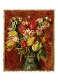 Tulip Bouquet Posters by Pierre-Auguste Renoir