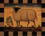 Farm Sheep Prints by Diane Pedersen
