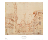 Firenze Perspective Prints by Baldassare Peruzzi