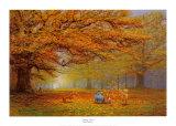 Winnie the Pooh - Autumn Leaves Art by Peter Ellenshaw
