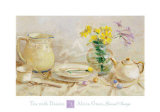 Tea with Daisies Poster by Alicia Grau