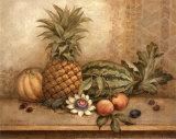 Ananas et fleur de la passion Posters par Pamela Gladding