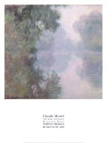 The Seine at Giverny, Morning Mists, 1897 Poster af Claude Monet