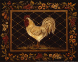 Old World Rooster Art by Kimberly Poloson