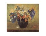 Jarrón de flores, 1896 Pósters por Paul Gauguin