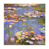Vannliljer, 1916 Kunst av Claude Monet