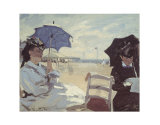The Beach at Trouville, 1870 Poster by Claude Monet