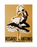 Rosario and Antonio, 1949 Posters by Paul Colin