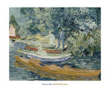 Bank of the Oise at Auvers, c.1890 Art by Vincent van Gogh