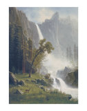 Bridal Veil Falls, Yosemite, c.1871-73 Art by Albert Bierstadt