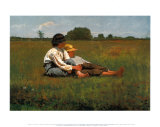 Boys in a Pasture, 1874 Poster di Winslow Homer
