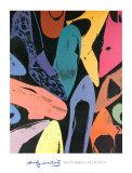 Diamantstøvede sko, 1980, lilla, blå, grøn Posters af Andy Warhol