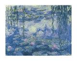 Nymphéas et branches de saule Posters par Claude Monet