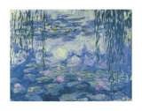 Water Lilies and Willow Branches Poster van Claude Monet