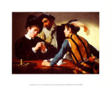 The Cardsharps Poster by Caravaggio