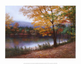 Golden Autumn Art by Diane Romanello