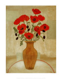 Crimson Poppies Prints by Beverly Jean