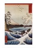 Veduta da Satta Suruga Poster di Ando Hiroshige