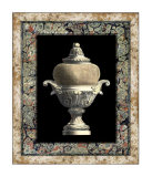 Urn on Marbleized Background II Prints