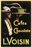 Noel Saunier - L. Voisin Cafes and Chocolats, 1935 - Poster
