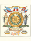 Great Seal Confederacy Posters by David Silvette