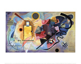 Amarillo-rojo-azul, 1925 Psters por Wassily Kandinsky