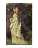 Arthur Hughes - Ophelia and He Will Not Come Again, 1863-64 Reprodukce