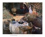 Das Mittagsmahl Poster von Claude Monet