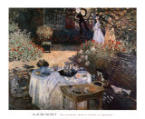 The Luncheon: Monet&#39;s Garden at Argenteuil Posters by Claude Monet