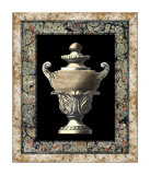Urn on Marbleized Background I Giclee Print