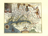 Captain John Smith's Map of Virginia Art Print