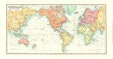 Commerce Map of the World Art Print