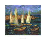Sails in the Bay Giclee Print by Ula Sukhovetskaya