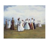 Ladies Golf Giclee Print by Curney Nuffer