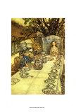 La loca hora del té Pósters por Arthur Rackham